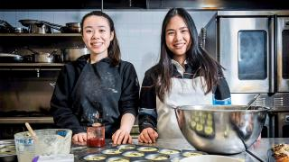 Toronto home cooks and their online food businesses | Kimberly Ng, founder of The Good Goods, with team member Sammi