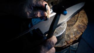 Tosho Knife Arts Toronto   Delicate knife inscriptions