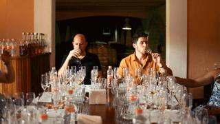 Nick Jonas and John Varvatos sipping and testing different tequilas   Villa One Tequila