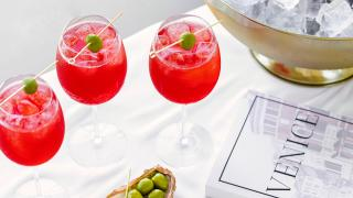 Picnic recipes | Select spritzes are garnished with olives