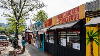 The best Toronto food markets | Shipping container stalls line Dundas Street West at Market 707