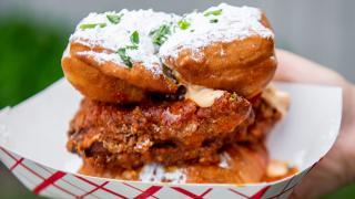 The best Toronto food markets | A fried chicken sandwich at Street Eats market