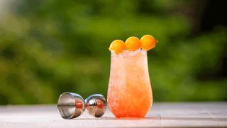Restaurant Review: Toronto Beach Club | Cantaloupe Island cocktail