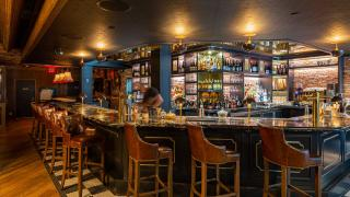 Restaurant Review: The Rabbit Hole, a whimsical British pub   The bar inside The Rabbit Hole