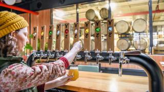 Celebrate International Beer Day with American craft beer   Pouring a pint