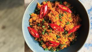 The impact of COVID-19 on our eating habits | Jollof rice from Mama Akua's