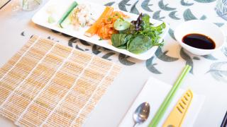 Places offering cool cooking classes in Toronto | A sushi-making setup at Sushi Making for the Soul