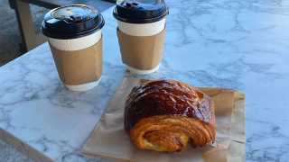 Emmer and Ash bakery on Harbord Street   Coffee and a croissant