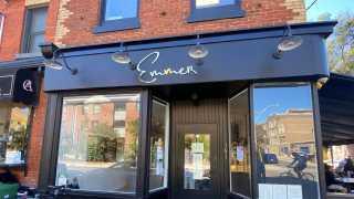 Outside Emmer and Ash bakery on Harbord Street