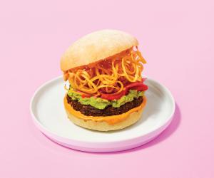 SweetChops vegan food delivery | the Big Chops burger