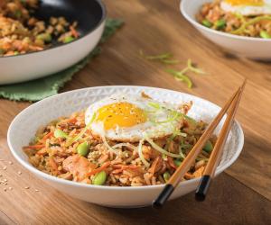 Honey garlic kimchi fried rice with VH Sauces recipe