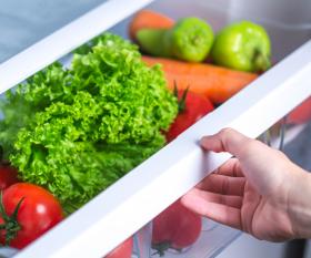 Community Fridges Toronto | produce inside a refrigerator drawer