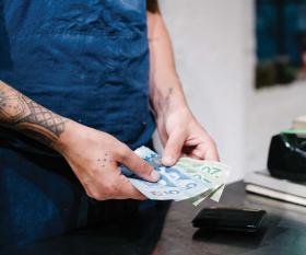 A server at Ten Restaurant | Jeffrey Chan