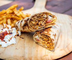 The best shawarma in Toronto | A chicken shawarma wrap from Chef Harwash