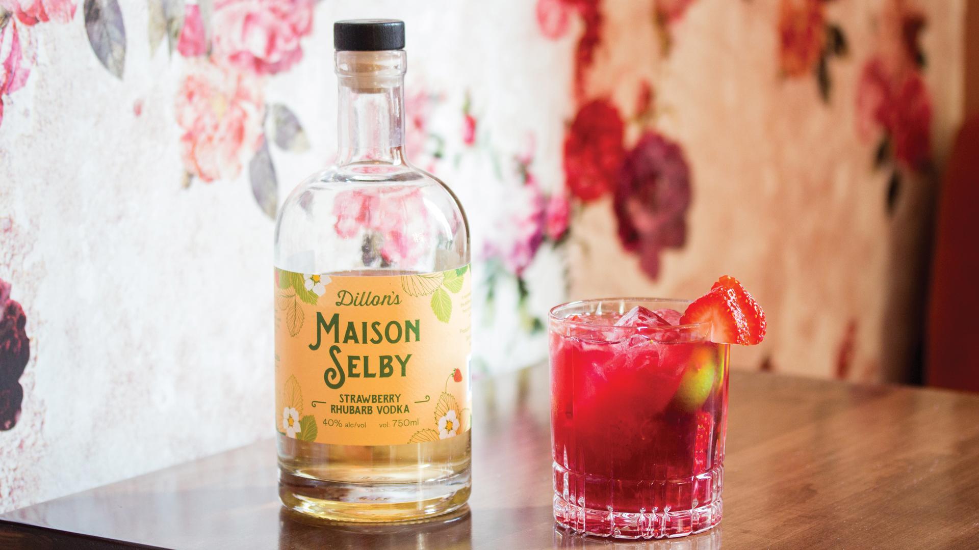 Ontario distilleries   Maison Selby Strawberry Rhubarb Vodka