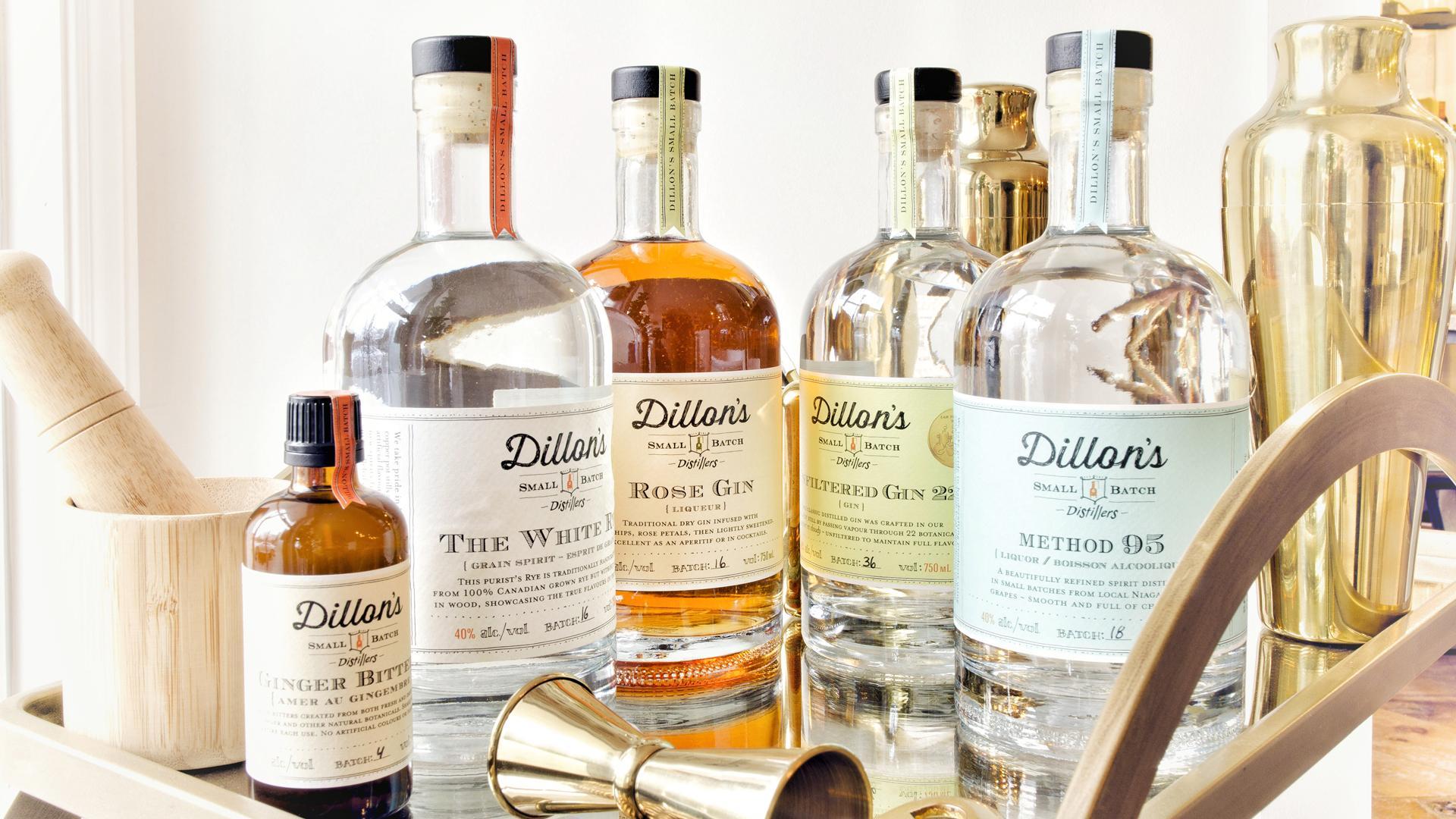 Ontario distilleries   A range of spirits from Dillon's