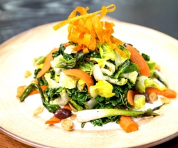 Cafe Boulud grilled kale salad from Daniel Boulud