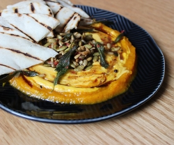 Pumpkin labneh from Bar Reyna
