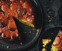 pistachio-apricot-upside-down-cake
