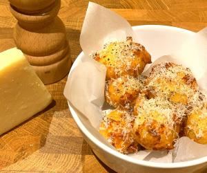 Craig Harding's recipe for cacio e pepe fritters