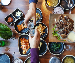 What is soju? Drinking a South Korean meal with the country's national drink | Shutterstock/Yeongsik lm