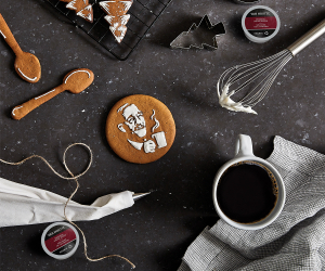 Van Houtte Coffee | Holiday cookies and cup of coffee