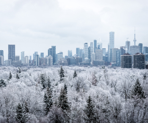 10 Things to do in Toronto this December | A snowy landscape shot of the city