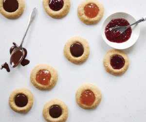 Fresh City's spelt and coconut sugar thumbprint cookies recipe