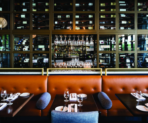 Spencer's at the Waterfront in Burlington | Wine cellar inside the dining room