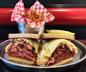 The best sandwiches in Toronto | Stacked Rueben sandwich at Zeldon's Deli and Desserts