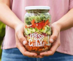Fresh City Farms salad and meal jars