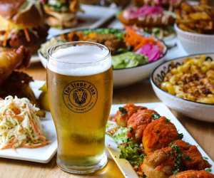 Estrella Damm Culinary Journey   A spread of food and beer at The Stone Lion