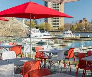 Estrella Damm Culinary Journey   The waterfront patio at Posta Italbar Cucina