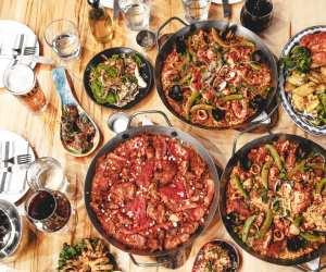 Estrella Damm Culinary Journey   A spread of food at Tapagaria