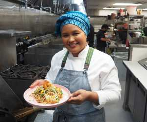 Nuit Regular makes her famous pad Thai In the Kitchen with Foodism